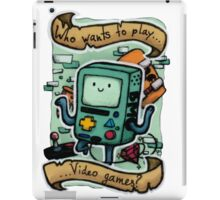 Who wants to play videogames? BMO iPad Case/Skin