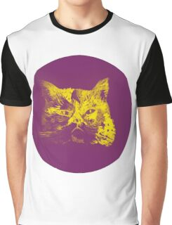 Colorful watercolor of cat Graphic T-Shirt