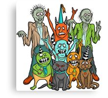 Monster Party Crew! Canvas Print