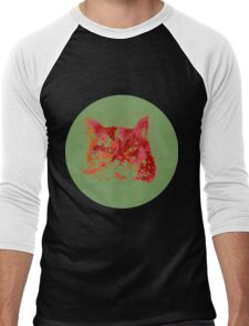 Colorful watercolor of cat Men's Baseball ¾ T-Shirt
