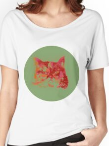 Colorful watercolor of cat Women's Relaxed Fit T-Shirt