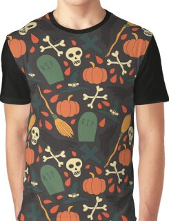Pattern with cute traditional halloween elements Graphic T-Shirt