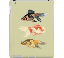 Botanical Fish Trio on Sage iPad Case/Skin