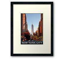 New York City freedom tower Framed Print
