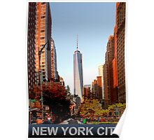 New York City freedom tower Poster