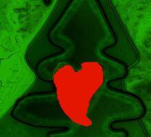 Season Greetings! green - by Ana Canas Sticker