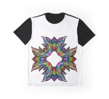 Rainbow Star Flower Graphic T-Shirt