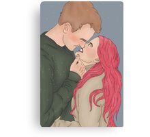 Remus and Tonks No Scars Canvas Print