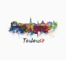Toulouse skyline in watercolor Kids Tee