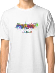 Toulouse skyline in watercolor Classic T-Shirt