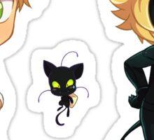 Chibi Adrien + Plagg + Chat Noir Sticker Set Sticker