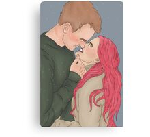 Remus and Tonks Scars Canvas Print