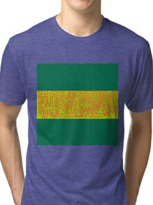 Clean Stripe (Lime) Tri-blend T-Shirt