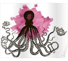Octopus Tea Party Poster