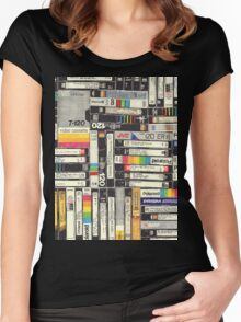 80´S VHS TAPES Women's Fitted Scoop T-Shirt
