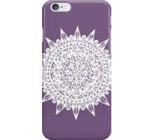 White Star Mandala Design iPhone Case/Skin