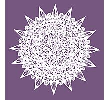 White Star Mandala Design Photographic Print