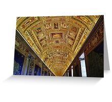 Vatican Room of Maps Ceiling Greeting Card