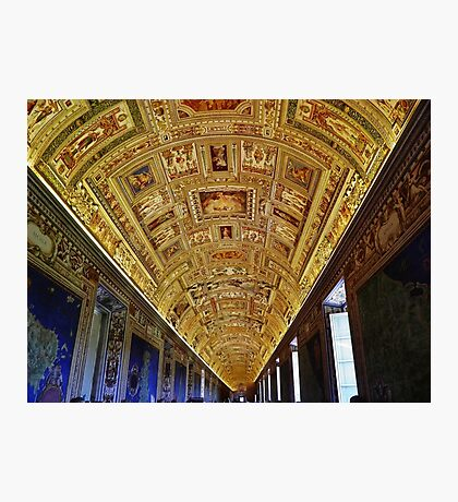 Vatican Room of Maps Ceiling Photographic Print