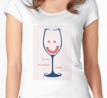 In Vino Veritas Women's Fitted Scoop T-Shirt