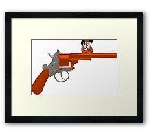 Duck Hunt gun Framed Print