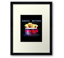 Exotic Butters Framed Print