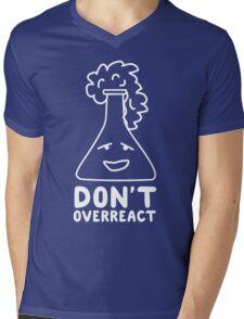 Chemistry Beaker Drawing - Don't Overreact Mens V-Neck T-Shirt