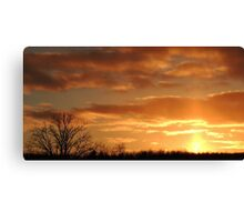 Beautiful Christmas Eve Sunset Canvas Print