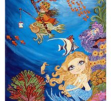 Under The Sea Mermaid Fantasy by CapeCodGiftShop