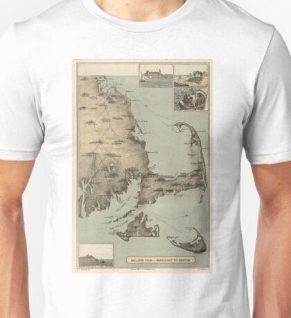 Vintage Map of Cape Cod (1885) Unisex T-Shirt