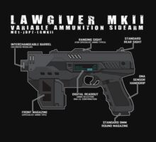 Lawgiver MKII Schematic Vector by strangelysaucy