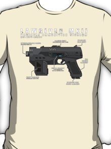 Lawgiver MKII Schematic Vector T-Shirt
