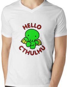 Chibi Cthulhu Mens V-Neck T-Shirt