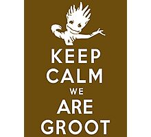 Keep Calm We Are Groot Photographic Print