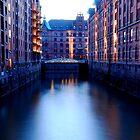 Hamburg......Low Tide at the Speicherstadt by Imi Koetz