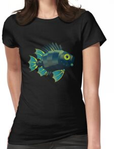 Mechanical Fish Patttern Womens Fitted T-Shirt