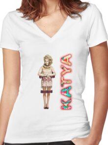 Katya Women's Fitted V-Neck T-Shirt