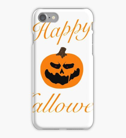 Happy Halloween Jack-O-Lantern iPhone Case/Skin