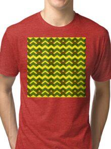 Yellow green alert Tri-blend T-Shirt