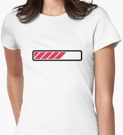 Loading bar computer Womens Fitted T-Shirt