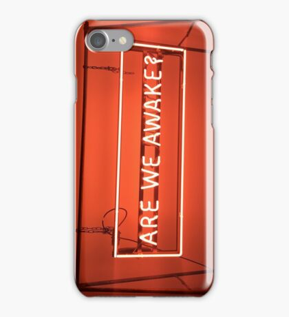The 1975 Are We Awake Neon Sign iPhone Case/Skin