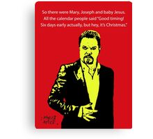 Eddie Izzard Christmas Canvas Print