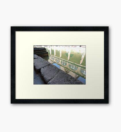 Reflected In Bath Framed Print