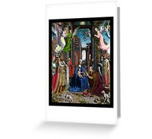 Adoration of the Kings by Gossaert Greeting Card