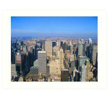 Manhattan New York City from Empire State Building  Art Print
