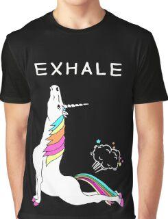Exhale Yoga T-shirt Unicorn With Rainbow Graphic T-Shirt