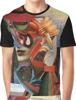 Portrait of a Woman on a Windy Day  Graphic T-Shirt