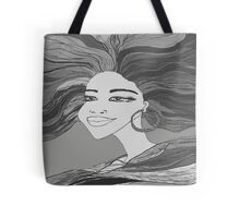 Wind In Her Hair Tote Bag