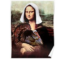 Mona Lisa Thanksgiving Pilgrim Poster