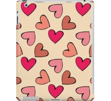 seamless colorful heart pattern iPad Case/Skin